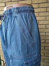 Бриджи мужские джинсовые, пояс на резинке MAVENS, фото 3