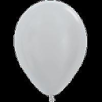 """Воздушные шары 12""""(30см) Металлик Серебро 481 В упак:50шт. TM Sempertex"""