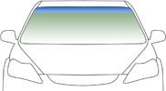 Автомобильное стекло ветровое, лобовое DAF F95 1987-1997  зеленое с зеленой полосой 4624AGNGN
