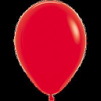 """Воздушные шары 12""""(30см) Пастель КРАСНЫЙ 015 В упак:50шт. TM Sempertex"""