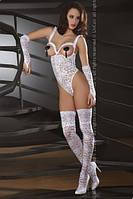 Боди-комбинезон эротический Livia Corsetti с чулками и перчатками (эротическое, сексуальное нижнее белье)