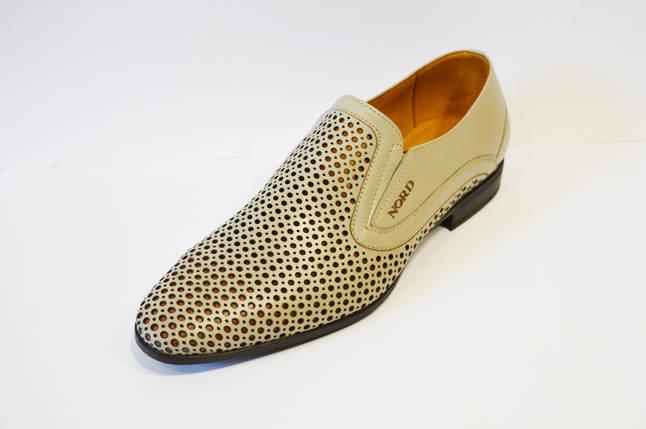 Туфли кожаные светло-бежевые Nord 7623, фото 2