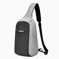 Рюкзак на одно плечо мужской стильный антивор
