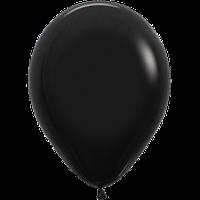 """Воздушные шары 12""""(30см) Пастель ЧЁРНЫЙ 080 В упак:50шт. TM Sempertex"""