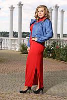 Куртка Пижон джинс большого размера 48-94 батал