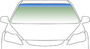 Автомобильное стекло ветровое, лобовое DAF XF 2006- зеленое 4635AGN