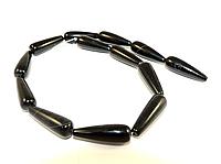 Заготівля з чорного агата «крапля», фото 1