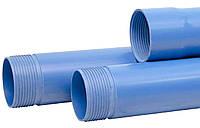 Труба обсадная 125х5,5х5100 нПВХ для скважин с резьбовым соединением синяя Мпласт (Украина)