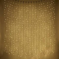 Светодиодная гирлянда дождь, 2х3 м, 600 LED, прозрачный ПВХ