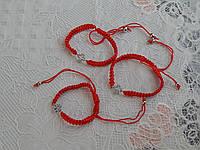 Браслет на детскую ручку красная нить с крестиком