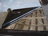 Нержавеющий лист AISI 321 08Х18Н10Т 0,8 Х 1250 Х 2500 зеркало