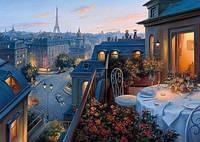 Картина по номерам Вид на Париж KH1107 40х50