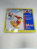 Карандаши цветные художественные 24 цвета Marko в металлической упаковке