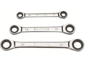 Ключ накидной с трещоткой 10х11мм TOPTUL AEAR1011
