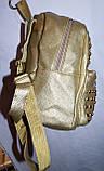 Женский молодежный рюкзак из кожзама с шипами черный 20*24 см, фото 2