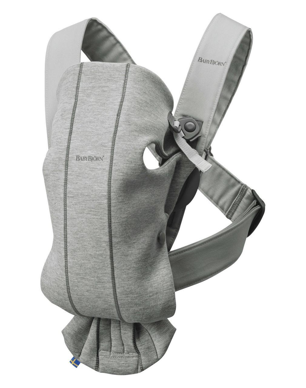 BabyBjorn - рюкзак-кенгуру для младенцев MINI 3D Джерси, светло-серый