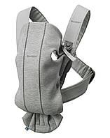 BabyBjorn - рюкзак-кенгуру для младенцев MINI 3D Джерси, светло-серый, фото 1