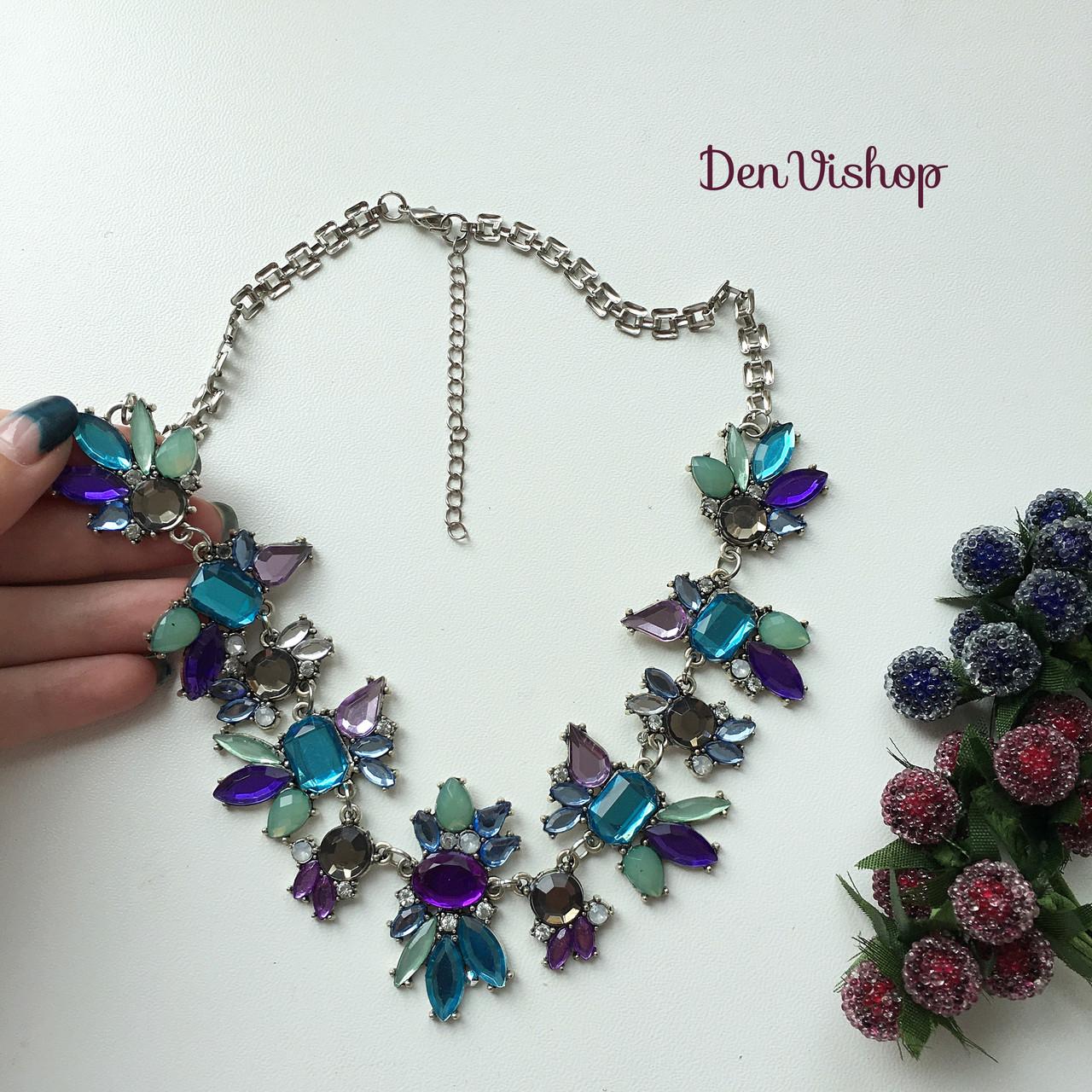 """Ожерелье """"Тина"""" фиолетовое."""