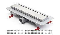 Душевой трап 35 см с решеткой Бейсик MCH низкий сифон