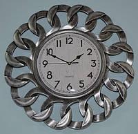 Годинник на стіну сталевий (40х40х4 см.), фото 1