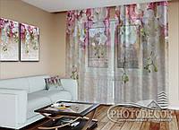 """ФотоТюль """"Ламбрекены из белых орхидей"""" (2,5м*7,5м, на длину карниза 5,0м), фото 1"""