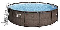Каркасный бассейн Bestway Ротанг 56664 (427х107) с картриджным фильтром, фото 1