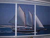 Цветная фотопечать на ткани жалюзи и рулонных штор под заказ покупателя