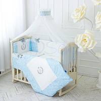 Постельный комплект De Lux / голубой