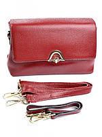 Женская кожаная кросс-боди 611 красная, фото 1