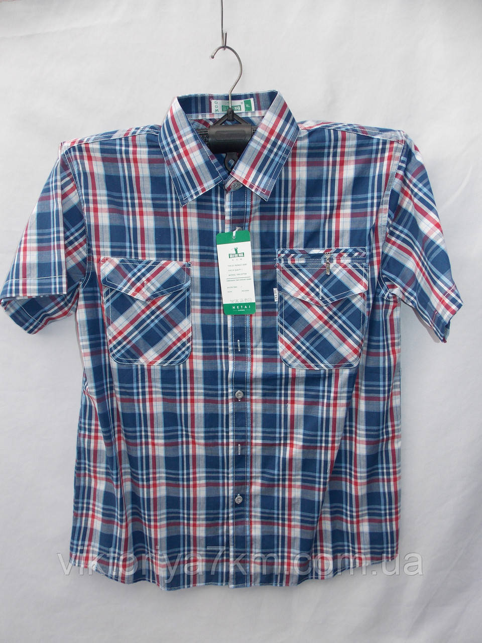 """Рубашка мужская в клетку (XL-5XL) """"Lider"""" RS2-1723"""