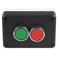 Пост управления черно-серый  2-х кнопочный (1НО+1НЗ) P2AB, ЭМАС
