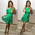 Легкое летнее платье с воланами открытые плечи
