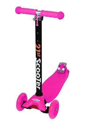 Самокат SCOOTER Maxi Micro со светящимися колесами Розовый