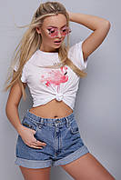 Молодежная футболка,фламинго, фото 1