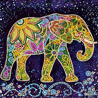 Схема на ткани для вышивания бисером АбрисАрт AC-498 Индийский слон