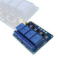 Модуль Реле 4 Канала 5V Arduino PIC AVR ARM