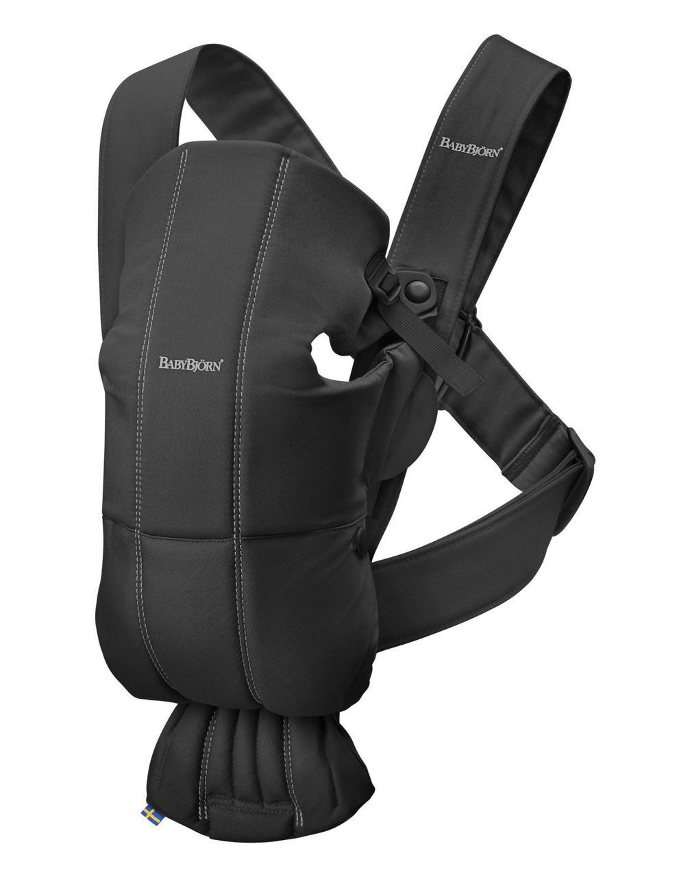 BabyBjorn - рюкзак-кенгуру для младенцев MINI Cotton, черный