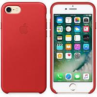 Оригинальный кожаный чехол для iPhone7 Plus  Red