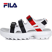 Сандали мужские Fila Sandals Фила (белые) Top replic