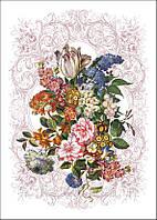 Полотенце 50*70 сорт 1,цвет 1 рисунок 489 Цветочный натюрморт-2(состав 100%лен)