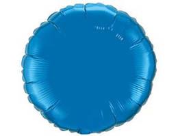 """Фольгированный шар круг синий 18"""", Flexmetal Испания"""