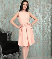 Платье миди с пояском. Коктейльное платье из софта. Разные цвета и размеры., фото 1
