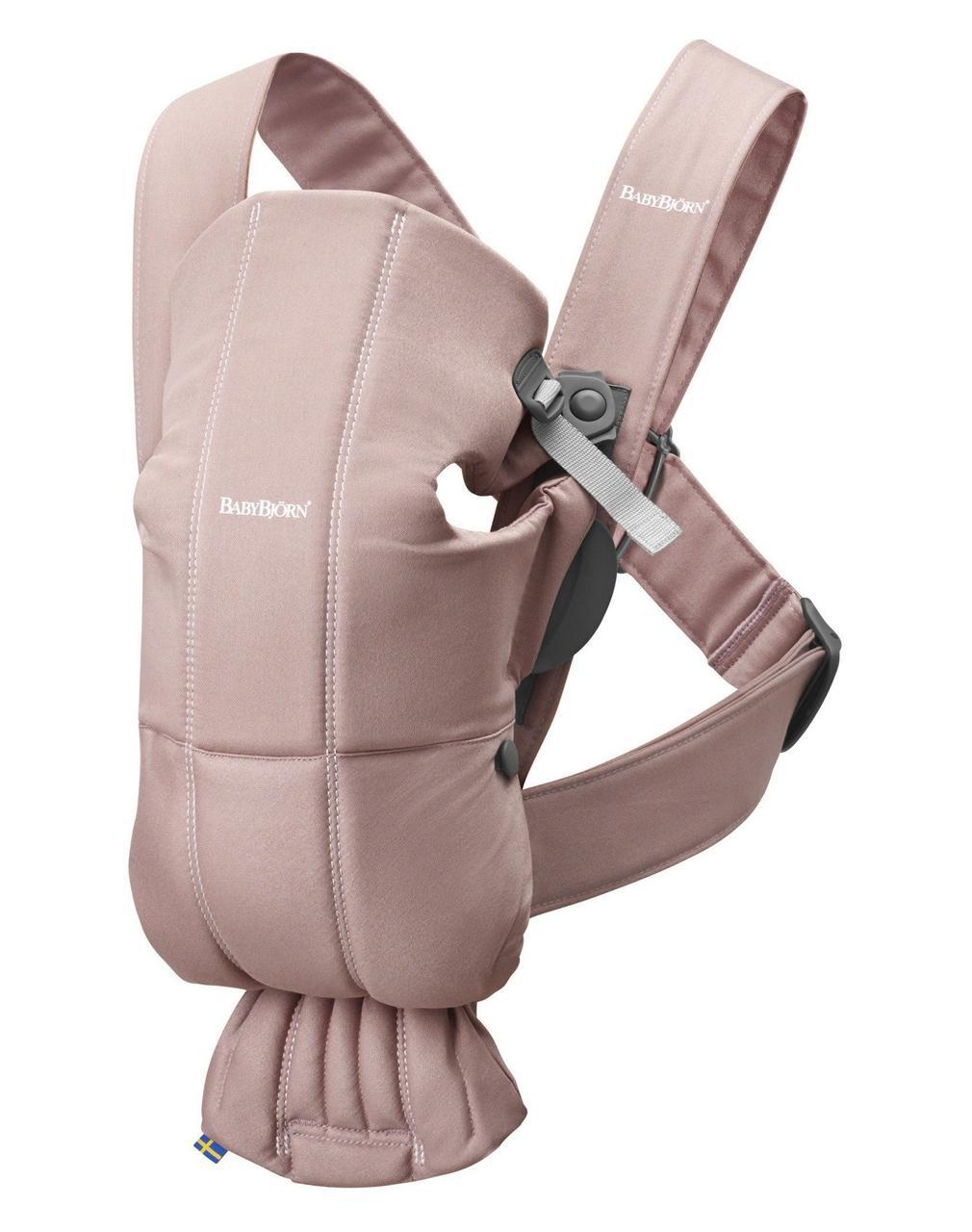 BabyBjorn - рюкзак-кенгуру для младенцев MINI Cotton, пудровый