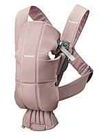 BabyBjorn - рюкзак-кенгуру для младенцев MINI Cotton, пудровый, фото 1