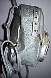 Женский рюкзак с глитером красный 22*28 см, фото 2