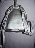 Женский рюкзак с глитером красный 22*28 см, фото 3