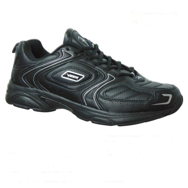 Спортивная обувь, мужские кроссовки Veer - 6173-2, 41-46, черные, белы