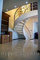 Бетонная тетивная лестница для дома