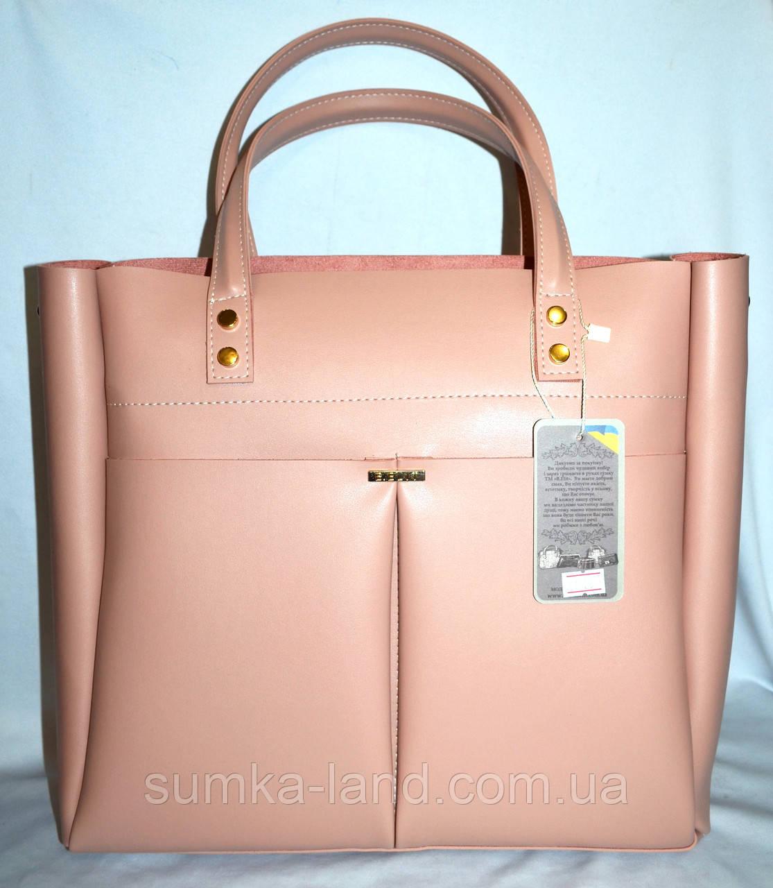 4256f927101b Женская пудровая сумка B Elit из эко-кожи с длинной ручкой 35 30 см ...