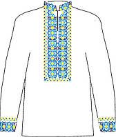 СВЮБ-13. Заготовка  Дитяча сорочка для хлопчика лляна біла.